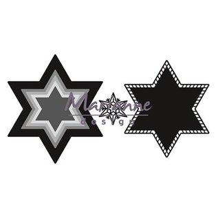 Marianne Design Stempler skabelon: stjerner