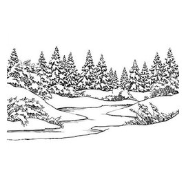 Nellie Snellen Embossing folder: Winter scene