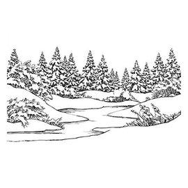 Nellie Snellen Embossing mappen: Winter scene