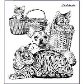 LaBlanche Stempel Lablanche: Hund og kat