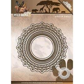 AMY DESIGN AMY DESIGN, stansning og prægning stencils: vilde dyr - afrikanske cirkel