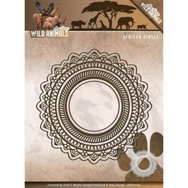 AMY DESIGN Stanz- und Prägeschablonen: Wild Animals - African Circle