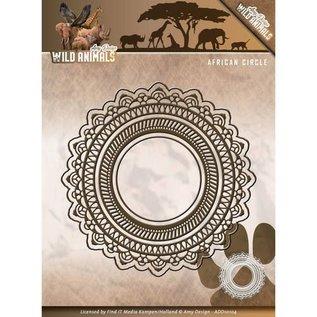 AMY DESIGN Stanz- und Prägeschablonen: Wild Animals - African Circle