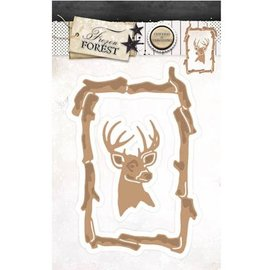 Studio Light Cutting & Embossing: cadre avec rennes