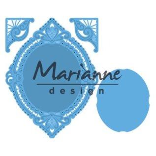 Marianne Design Cutting & Embossing dør: Petra's ovale og hjørne
