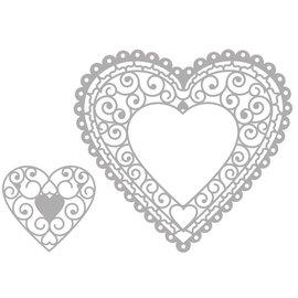 Marianne Design Corte e Embossing Die: Filigre Heart Doily