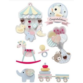 Embellishments / Verzierungen Adornos pegatinas 3D: motivos de bebé