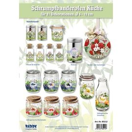 BANDEROLEN, Schrumpffolien Assortment kitchen banderoles - set for 21 banderoles for diameters 5 - 12 cm