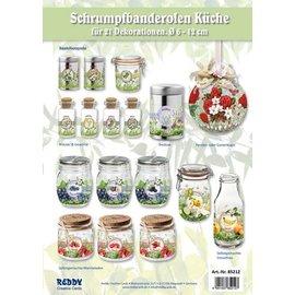 BANDEROLEN, Schrumpffolien francobolli Gamma Cucina - fissati per 21 francobolli per Diametro 5 - 12 cm