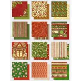 Designer Papier Scrapbooking: 30,5 x 30,5 cm Papier Papier Block: Premium Glitter mit Weihnachtsmotiven