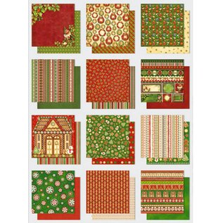 Designer Papier Scrapbooking: 30,5 x 30,5 cm Papier bloc de papier: paillettes Premium thèmes de Noël