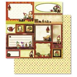 Designer Papier Scrapbooking: 30,5 x 30,5 cm Papier 1 Bogen Premium Glitter mit Weihnachtsmotiven