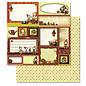 Designer Papier Scrapbooking: 30,5 x 30,5 cm Papier 1 ark Premium glitter med Weihnachtsmotiven