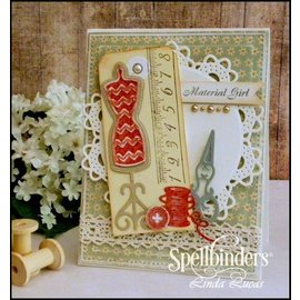 Spellbinders und Rayher Punching and embossing template: Sewing