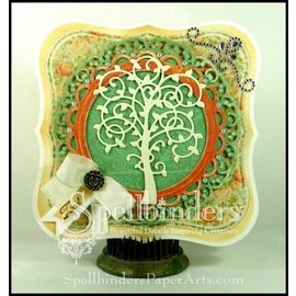 Spellbinders und Rayher Punching - and emboss.templ, metal template tree