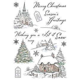 Wild Rose Studio`s Transparent / Clear Stamp: Winter Cottages