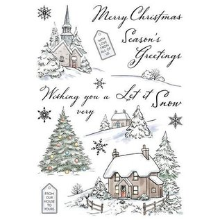 Wild Rose Studio`s Transparent / Clear Stamps: Vinter Cottages