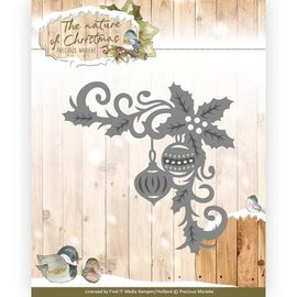 Precious Marieke Stamping template: corner with Christmas motifs