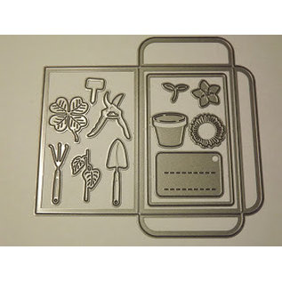 Marianne Design Cutting dies: Pocket and garden equipment