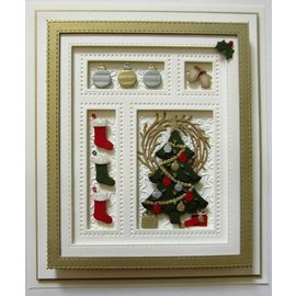 CREATIVE EXPRESSIONS und COUTURE CREATIONS Stamping Stencils: Christmas Shadow Box