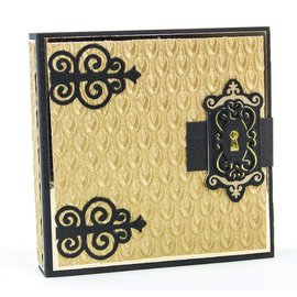 Tonic Stamping stencils: Decorative hinges