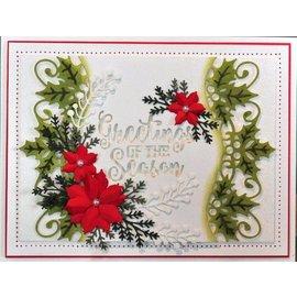 CREATIVE EXPRESSIONS und COUTURE CREATIONS troqueles de corte: rosa de Navidad y la frontera