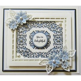 CREATIVE EXPRESSIONS und COUTURE CREATIONS Cutting & Embossing Dies: 4 cadre décoratif, rectangulaire