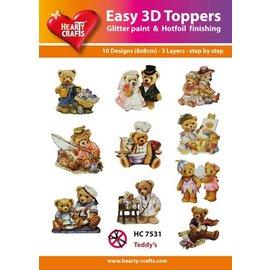 Bilder, 3D Bilder und ausgestanzte Teile usw... Facile Toppers 3D: Bears