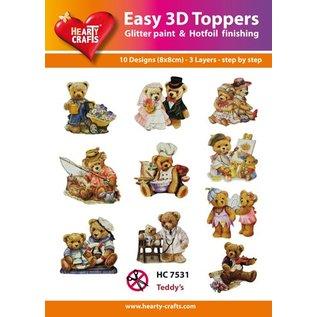 Bilder, 3D Bilder und ausgestanzte Teile usw... 3D Easy Toppers: Bear