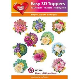 Bilder, 3D Bilder und ausgestanzte Teile usw... Facile Toppers 3D: Fiori