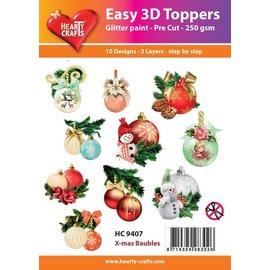 Bilder, 3D Bilder und ausgestanzte Teile usw... Fácil Toppers 3D: Bolas de Navidad