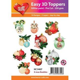 Bilder, 3D Bilder und ausgestanzte Teile usw... 3D Easy Toppers: Weihnachtskugeln