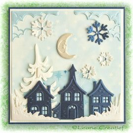 Leane Creatief - Lea'bilities Cutting & Embossing die: pretty houses - ONLY 1 in stock!