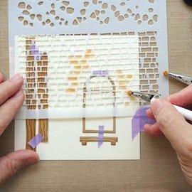 Leane Creatief - Lea'bilities Modello / mascherina del modello: muro e pietre