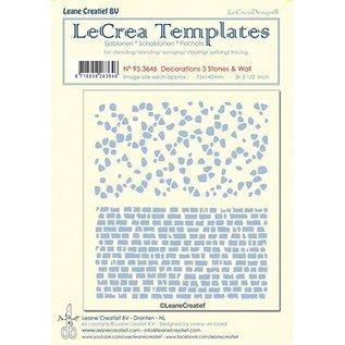 Leane Creatief - Lea'bilities und By Lene Template / Maske Schablone: Mauer und Steinen