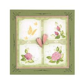 Leane Creatief - Lea'bilities Effacer, Tampon transparent: Coin décoratif