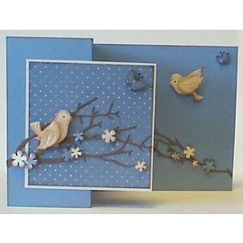 Leane Creatief - Lea'bilities und By Lene Stamping and Embossing stencil, bird