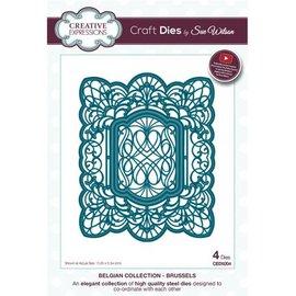 CREATIVE EXPRESSIONS und COUTURE CREATIONS stampi di taglio: 4 cornici decorative, Bruxelles