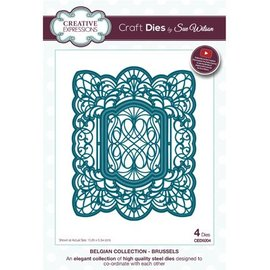 CREATIVE EXPRESSIONS und COUTURE CREATIONS Stamping stencils: 4 decorative frames, Brussels