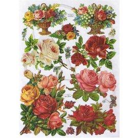 Bilder, 3D Bilder und ausgestanzte Teile usw... A5, scraps: Roses