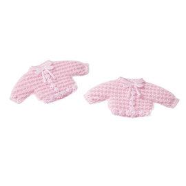 Embellishments / Verzierungen Baby Strickjäckchen, 2 Stück, rosa