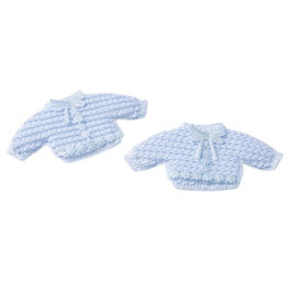 Embellishments / Verzierungen Baby cardigan, 2 pieces, blue