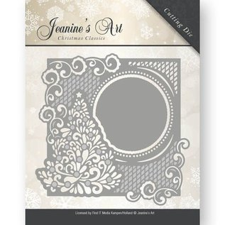 JEANINES ART (NEU) Stanzschablonen: zierrahmen mit Weihnachtsbaum