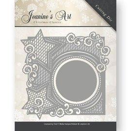 JEANINES ART (NEU) Skæring dør: dekorative ramme med stjerner