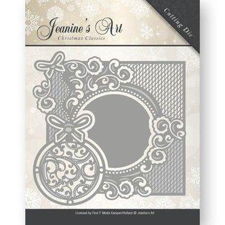JEANINES ART (NEU) Stanzschablonen: zierrahmen mit Weihnachtskugel
