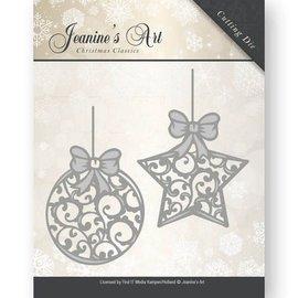 JEANINES ART (NEU) Corte e estampagem: Esfera do Natal e estrela