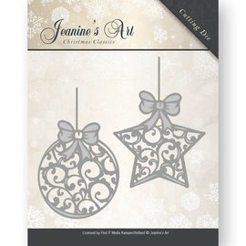 JEANINES ART (NEU) Cutting & Embossing: Christmas ball and star