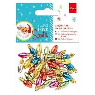 Embellishments / Verzierungen Christmas Light Charms , 32 Stück