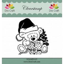 Stempel / Stamp: Transparent Limpar, Stamp Transparente: Urso de peluche do Natal