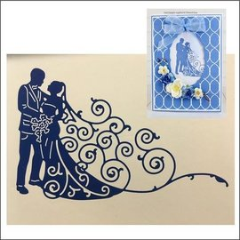 Tattered Lace Stamping stencils: Wedding parade